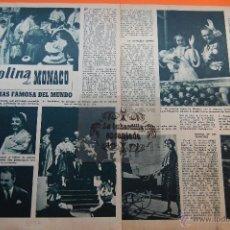 Cinema: ARTICULO REVISTA AÑO 1957 - CAROLINA DE MONACO GRACE KELLY - 2 PAG.. Lote 45333779
