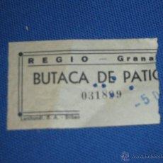 Cine: ENTRADA DE CINE - REGIO GRANADA . Lote 45603495