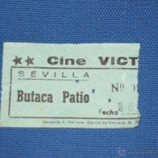 Cine: ENTRADA DE CINE - VICTORIA - SEVILLA - BUTACA DE PATIO - COLOR VERDE. Lote 45603649