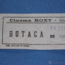 Cinéma: ENTRADA DE CINE - CINEMA ROXY - VALLADOLID. Lote 45635105