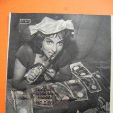 Cine: FOTO REVISTA 1958 - GINA LOLLOBRIGIDA - 1 PAGINAS. Lote 45753743
