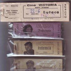 Cine: LOTE Nº 4 ENTRADAS DEL CINE VICTORIA DE ROTA. Lote 46162643
