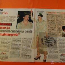 Cine: ARTICULO 1997 - MADONNA PRESENTA EVITA EN ESPAÑA - 2 PAGINAS. Lote 47309752
