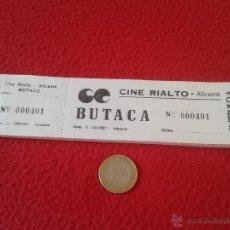 Cine: ANTIGUO ESCASO TALONARIO CON 100 ENTRADAS CINE RIALTO ALICANTE IDEAL COLECCIONISTAS. ENTRADA TICKET . Lote 49561160
