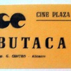Cine: ENTRADA ANTIGUA CINE PLAZA DE TOROS ALICANTE. Lote 51801372