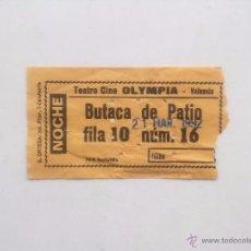 Cine: ENTRADA NOCHE, TEATRO CINE OLIMPIA VALENCIA 1992. Lote 52557471