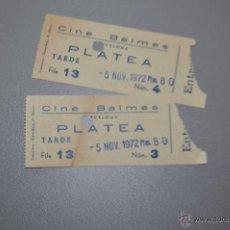 Cine: 2 ENTRADAS CINE BALMES BARCELONA. Lote 53565561