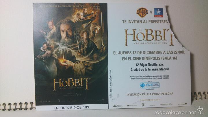 ENTRADA INVITACIÓN PREESTRENO EL HOBBIT KINEPOLIS (Cine - Entradas)