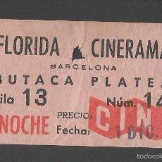 Cine: CINE FLORIDA CINERAMA - BARCELONA. Lote 58398898