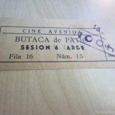 Cine: ENTRADA DEL CINE AVENIDA DE LA CORUÑA BUTACA DE PATIO 1947. Lote 58497269