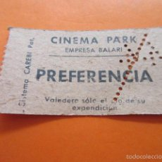Cine: ENTRADA CINE CINEMA PARK EMPRESA BALARI SISTEMA ENTRADAS CAREBI. Lote 59136565