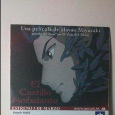 Cine: ENTRADA CINE KINEPOLIS - MOTIVO CASTILLO AMBULANTE - HAYAO MIYAZAKI 1. Lote 60947075