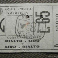 Cine: ENTRADA - VENECIA - RIALTO LIDO - . Lote 61167207