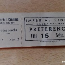 Cine: TACO DE ENTRADAS DE CINE IMPERIAL CINEMA DE ALDEA DEL REY PREFERENCIA FILA 15 NUMEROS PARES. Lote 64385855