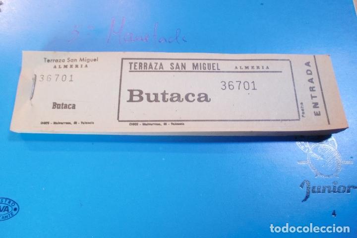 CINE ALMERIA TERRAZA SAN MIGUEL TALONARIO 100 ENTRADAS AÑOS 60 (Cine - Entradas)