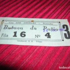Cine: ENTRADA CINE LOS ANGELES.SANTANDER.AÑO 1983. Lote 76295551
