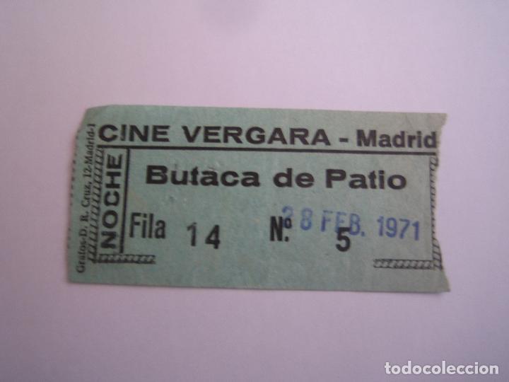 ENTRADA ORIGINAL ANTIGUA DEL CINE VERGARA MADRID (Cine - Entradas)