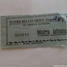 Cine: ENTRADA TEATRO BELLAS ARTES TOLOSA. AÑOS 70. Lote 85208010