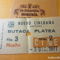 Cine: CINE NUEVO CINERAMA - NOCHE - LA GUERRA DE LAS GALAXIAS 3/12/1977 VER FOTOS DATOS INTERIOR STAR WARS. Lote 119433070