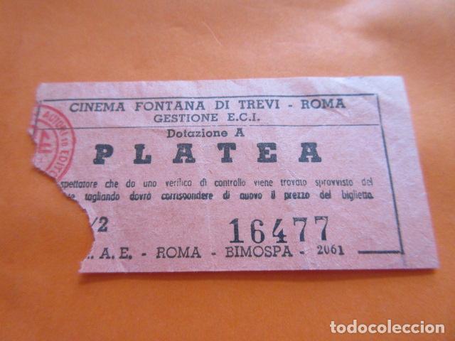 ENTRADA CINE CINEMA FONTANA DI TREVI ROMA (Cine - Entradas)
