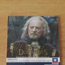 Cine: ENTRADA CINE KINEPOLIS - LAS DOS TORRES - EL SEÑOR DE LOS ANILLOS - KING THEODEN (VER FOTO ADICIONAL. Lote 93166975