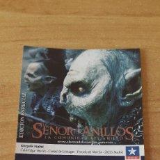 Cinema: ENTRADA CINE KINEPOLIS - EL SEÑOR DE LOS ANILLOS - HORCOS - VER FOTO ADICIONAL. Lote 93167525