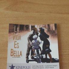 Cine: ENTRADA CINE KINEPOLIS - LA VIDA ES BELLA - ROBERTO BENIGNI (VER FOTO ADICIONAL). Lote 93338125