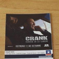 Cine: ENTRADA CINE KINEPOLIS - CRANK VENENO EN LA SANGRE - JASON STATHAM - VER FOTO ADICIONAL. Lote 93559785