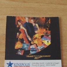 Cinema: ENTRADA CINE KINEPOLIS - EL MUNDO NUNCA ES SUFICIENTE - JAMES BOND - 007 - VER FOTO ADICIONAL. Lote 93560645
