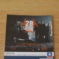 Cine: ENTRADA CINE KINEPOLIS - 28 DIAS DESPUES - VER FOTO ADICIONAL. Lote 93657060