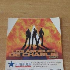 Cine: ENTRADA CINE KINEPOLIS - LOS ANGELES DE CHARLIE - CHARLIE´S ANGELS (VER FOTO ADICIONAL). Lote 93657320