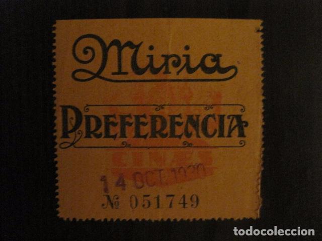 ENTRADA CINE - CINE MIRIA - BARCELONA - AÑOS 30 -VER FOTOS - ( V-12.009) (Cine - Entradas)