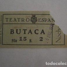 Cine: ENTRADA CINE - CINE TEATRO ESPAÑOL - MADRID - AÑOS 30 -VER FOTOS - ( V-12.330). Lote 101311471