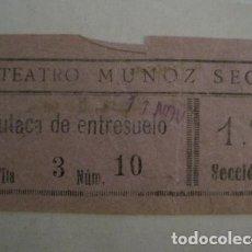 Cine: ENTRADA CINE - CINE TEATRO MUÑOZ SECA - MADRID - AÑOS 30 -VER FOTOS - ( V-12.343). Lote 101312283