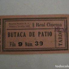 Cine: ENTRADA CINE - CINE REAL CINEMA - MADRID - AÑOS 30 -VER FOTOS - ( V-12.346). Lote 101312419
