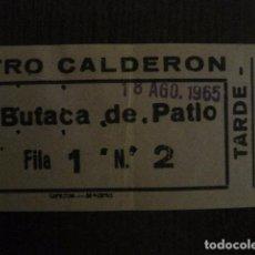 Cine: ENTRADA CINE - CINE TEATRO CALDERON - MADRID - AÑOS 60 - VER FOTOS - (V-12.656). Lote 103315171
