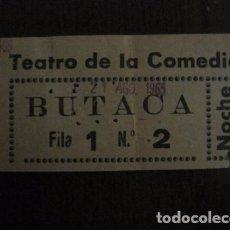 Cine: ENTRADA CINE - CINE TEATRO DE LA COMEDIA - MADRID - AÑOS 60 - VER FOTOS - (V-12.657). Lote 103315259