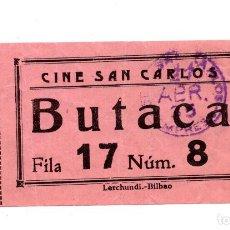 Cine: ENTRADA DE CINE - CINE SAN CARLO . Lote 103605787
