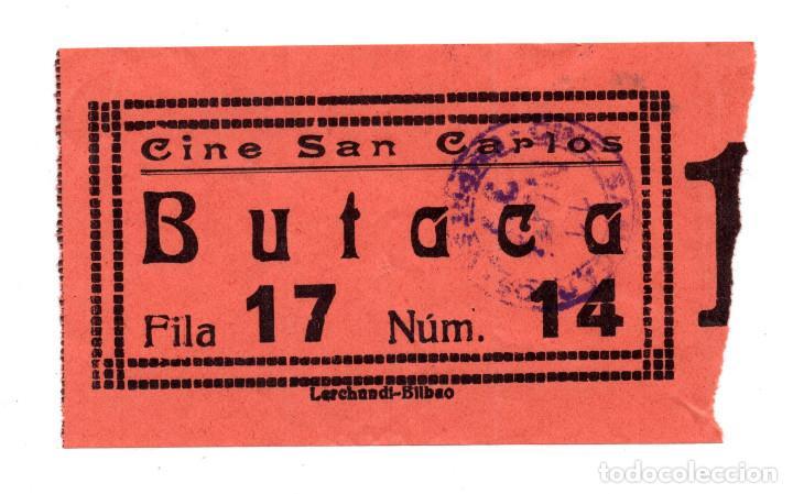 ENTRADA DE CINE - CINE SAN CARLOS - MADRID - BUTACA (Cine - Entradas)