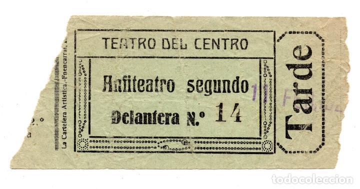 ENTRADA DE CINE - TEATRO DEL CENTRO - ANFITEATRO SEGUNDO (Cine - Entradas)
