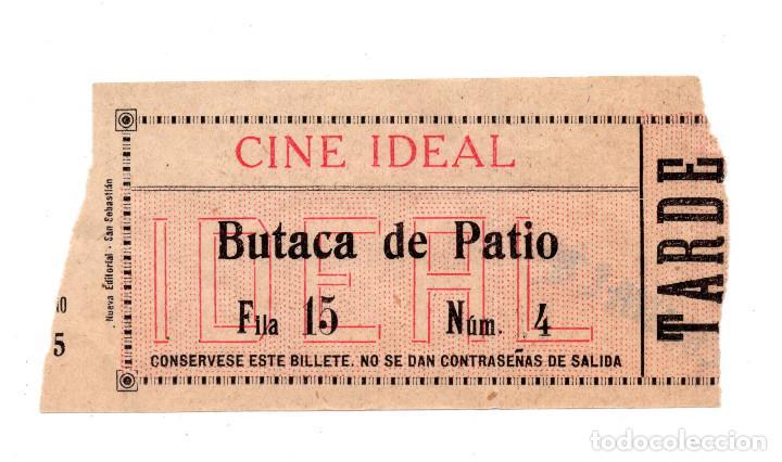 ENTRADA DE CINE - CINE IDEAL - BUTACA DE PATIO (Cine - Entradas)