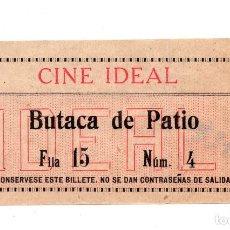 Cine: ENTRADA DE CINE - CINE IDEAL - BUTACA DE PATIO. Lote 103682839