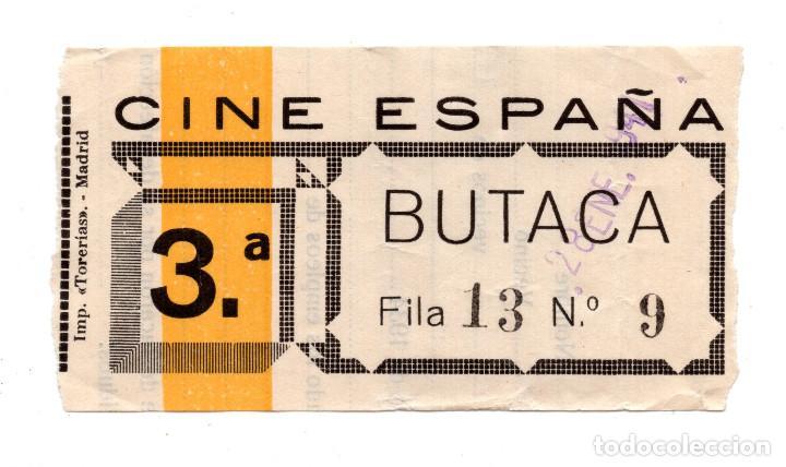 ENTRADA DE CINE - CINE ESPAÑA - 1941 (Cine - Entradas)