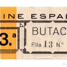 Cine: ENTRADA DE CINE - CINE ESPAÑA - 1941. Lote 172962980