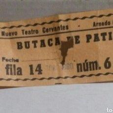 Cine: ENTRADA NUEVO TEATRO CERVANTES 1980 ARNEDO. Lote 103880660