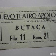 Cine: ENTRADA NUEVO TEATRO APOLO -. Lote 104104803