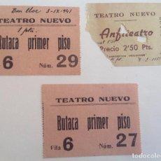 Cine: 1941 Y 1951 * LOTE DE 3 ENTRADAS * TEATRO NUEVO * BARCELONA. Lote 105094811