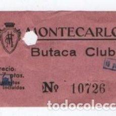 Cine: (ALB-TC-3) ENTRADA CINE MONTECARLO. Lote 105573123