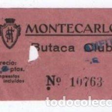 Cine: (ALB-TC-3) ENTRADA CINE MONTECARLO. Lote 105573135