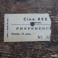 Cine: ENTRADA DE PREFERENCIA DEL CINE REX, BARCELONA. Lote 110293751